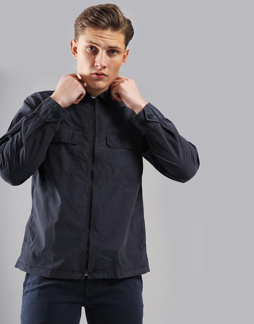 BOSS Lightweight Lovel-Zip Overshirt Navy