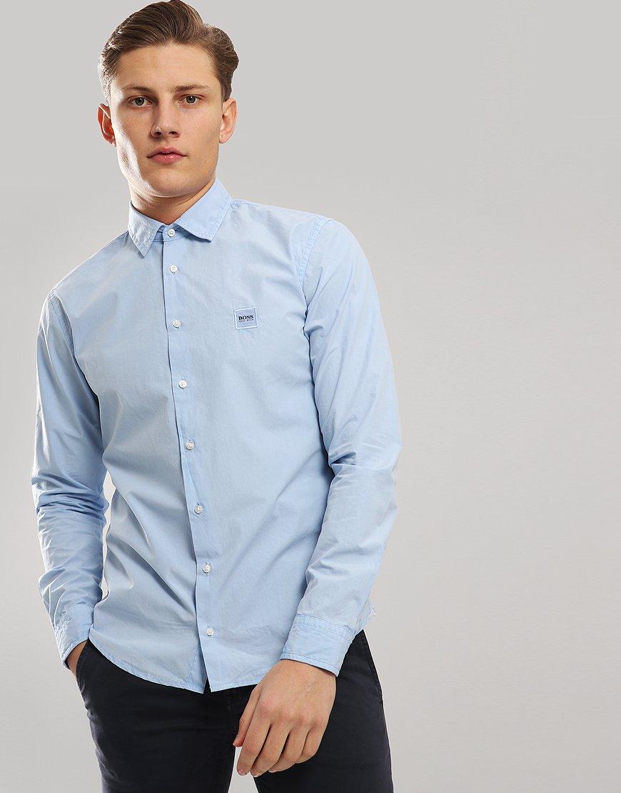 BOSS Mypop Paper Touch Shirt Open Blue