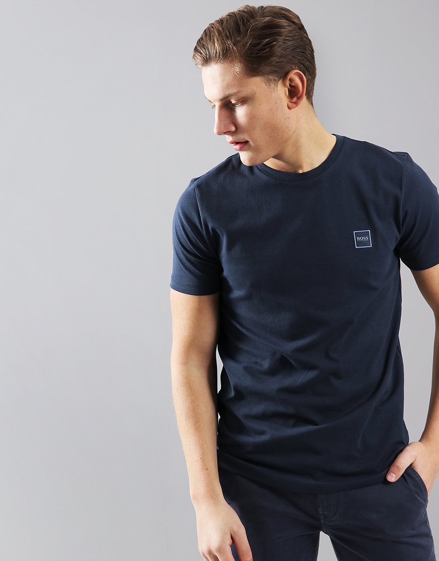 BOSS Tales Crew Neck T-Shirt Navy