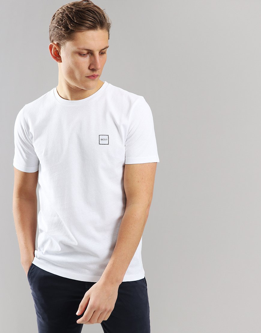 BOSS Tales Crew Neck T-Shirt White