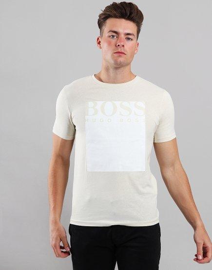 BOSS Tauch 2 Logo Square T-Shirt Beige