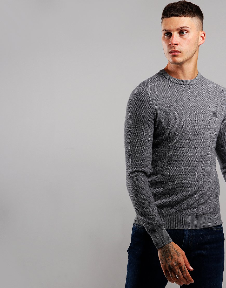 BOSS Akustor Lightweight Knit Medium Grey