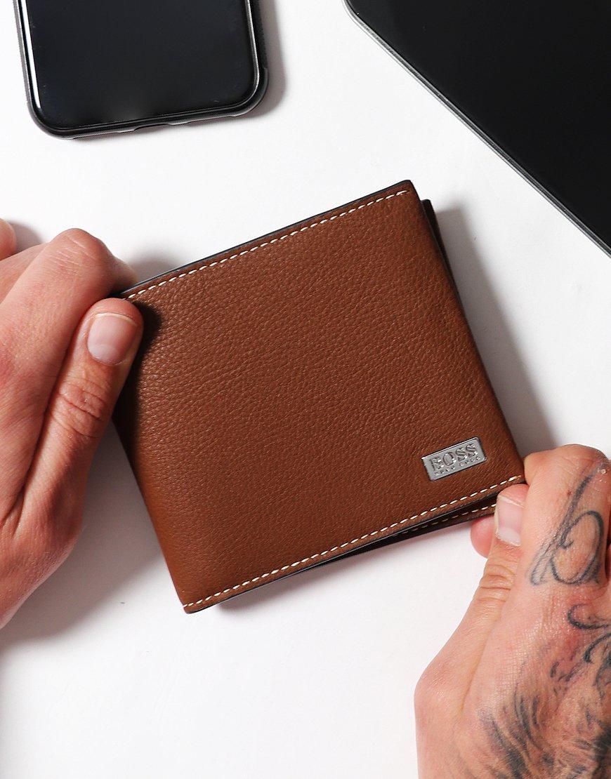 BOSS Crosstown Eight-card billfold Wallet Brown