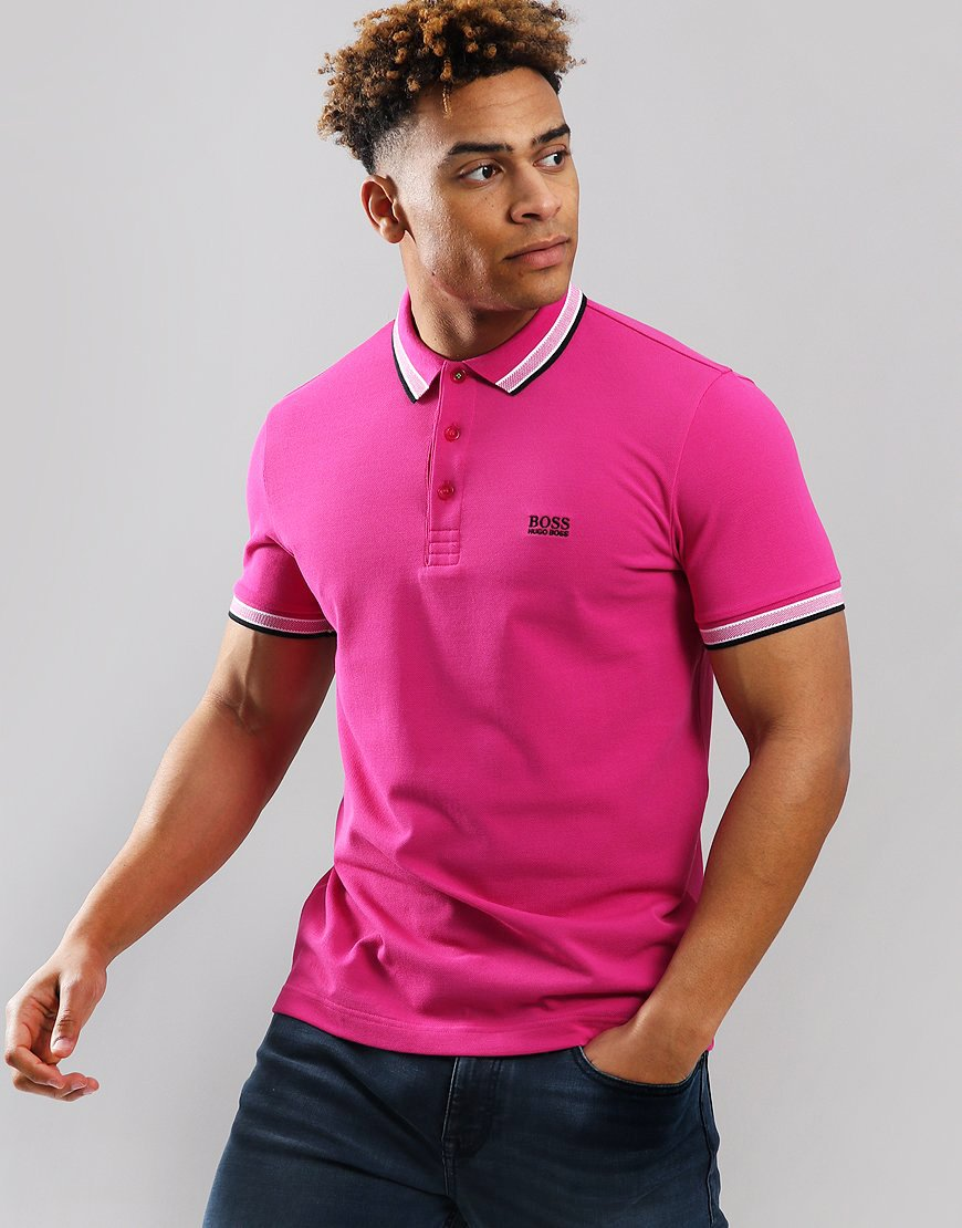 BOSS Paddy Regular Fit Polo Shirt  Medium Pink