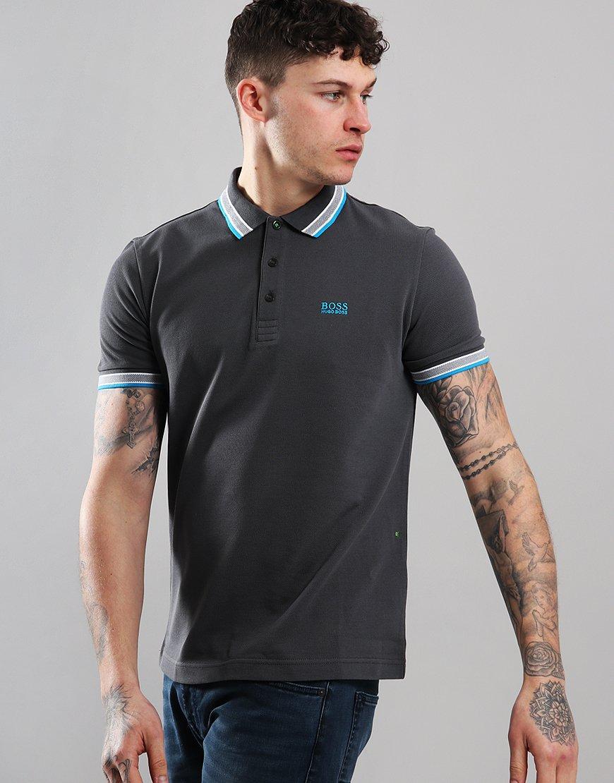 BOSS Paddy Regular Fit Polo Shirt Grey