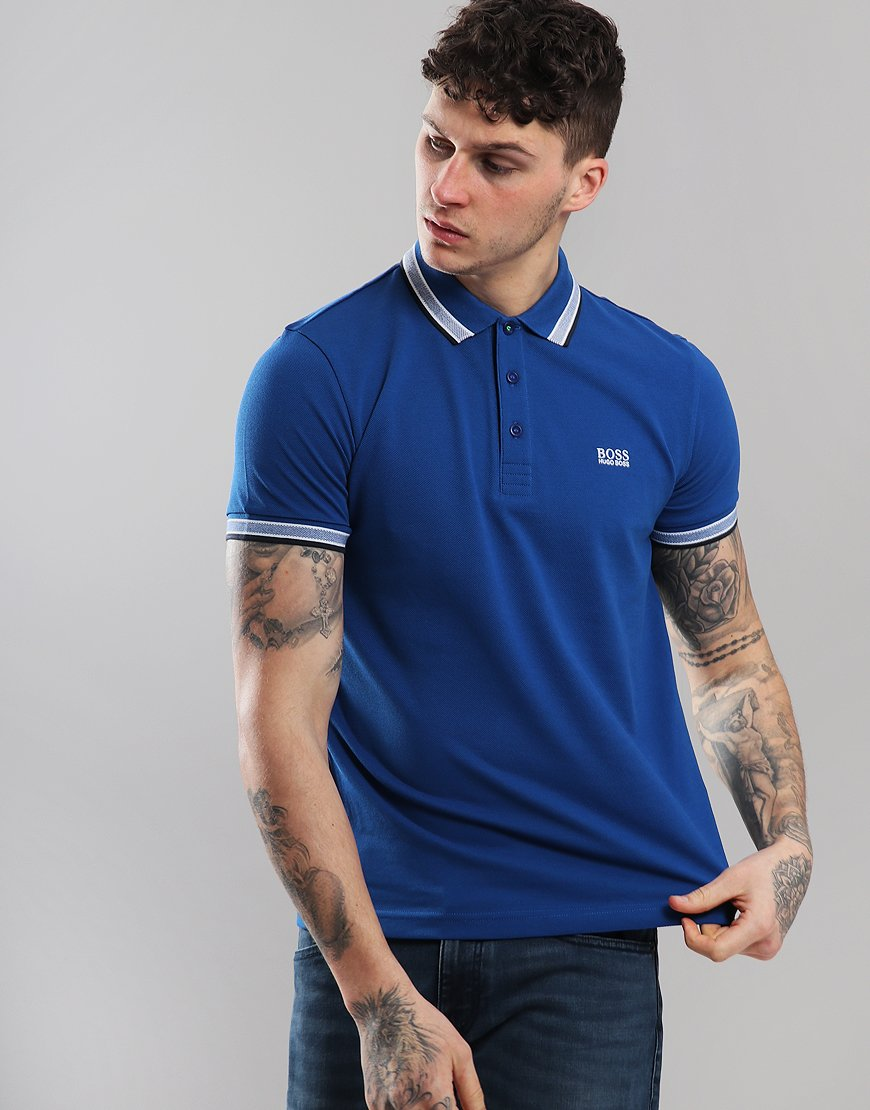 BOSS Paddy Regular Fit Polo Shirt Medium Blue