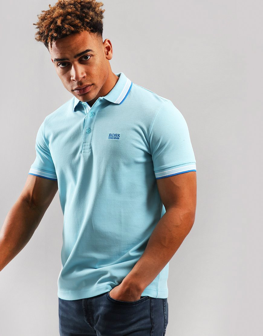 BOSS Paddy Regular Fit Polo Shirt Light/Pastel Blue