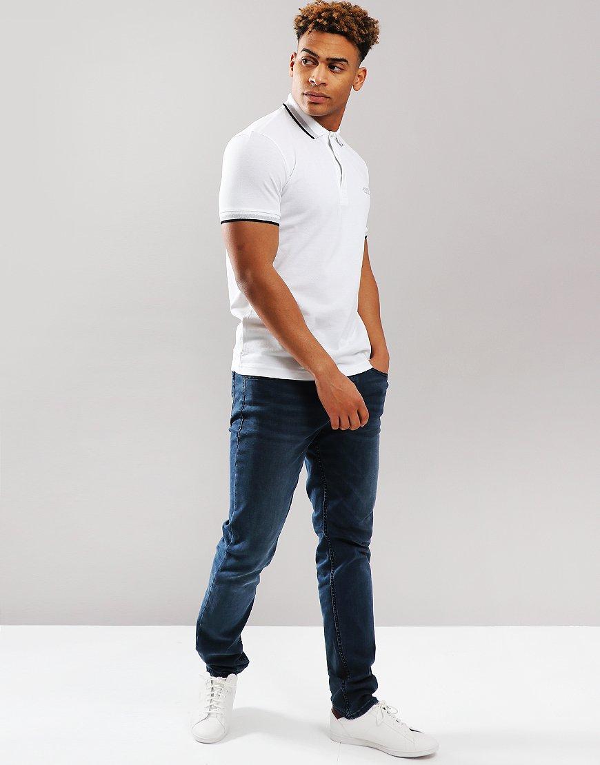 BOSS Paddy Regular Fit Polo Shirt White
