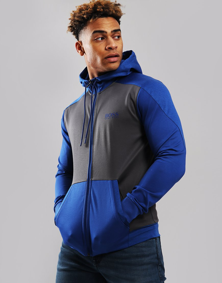BOSS SLH-Tech Full Zip Sweater Open Blue