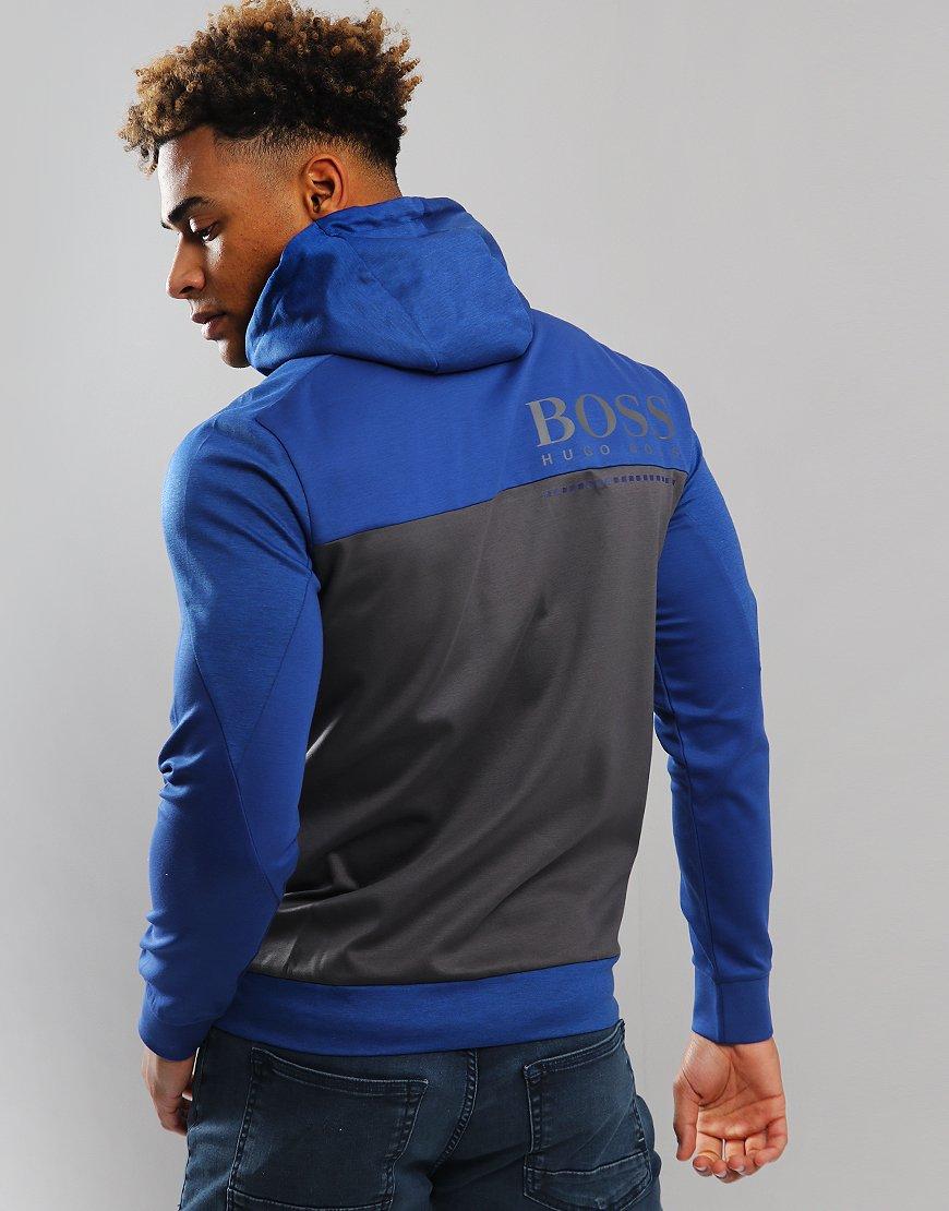 BOSS SLH-Tech Full Zip Sweater Open Blue