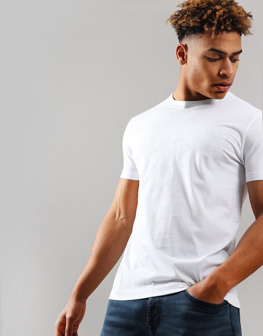 BOSS Tee 1 Tonal Logo T-Shirt White
