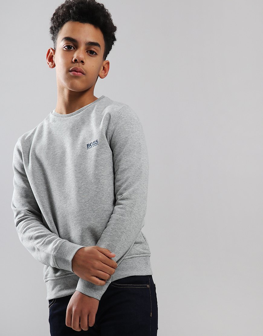 BOSS Kids Crew Sweat Grey Marl
