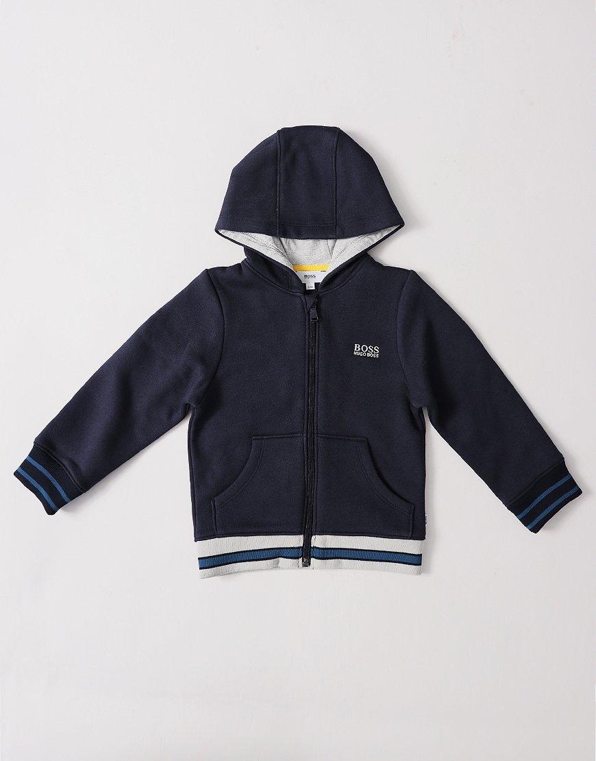 BOSS Kids J05647 Zip Hoodie Navy Blue