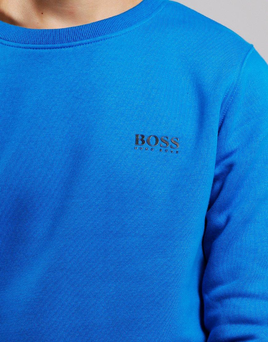 BOSS Kids Small Logo Crew Sweat Electric Blue