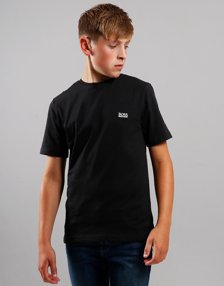 BOSS Kids Small Logo T-Shirt Black