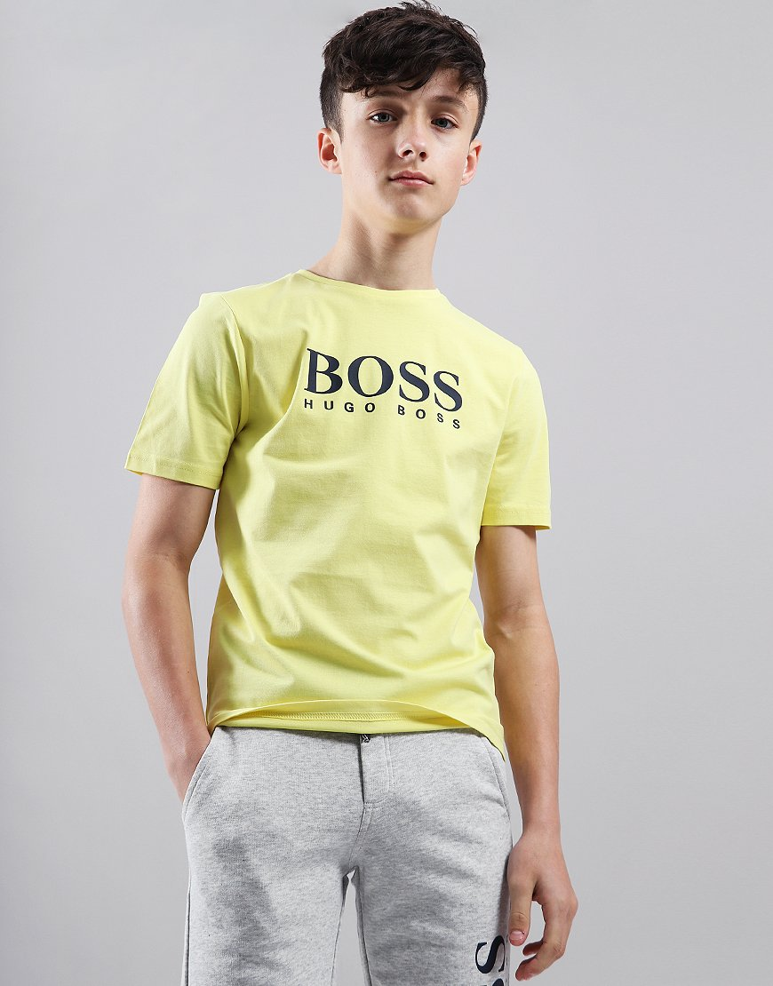 BOSS Kids Logo T-Shirt Straw Yellow