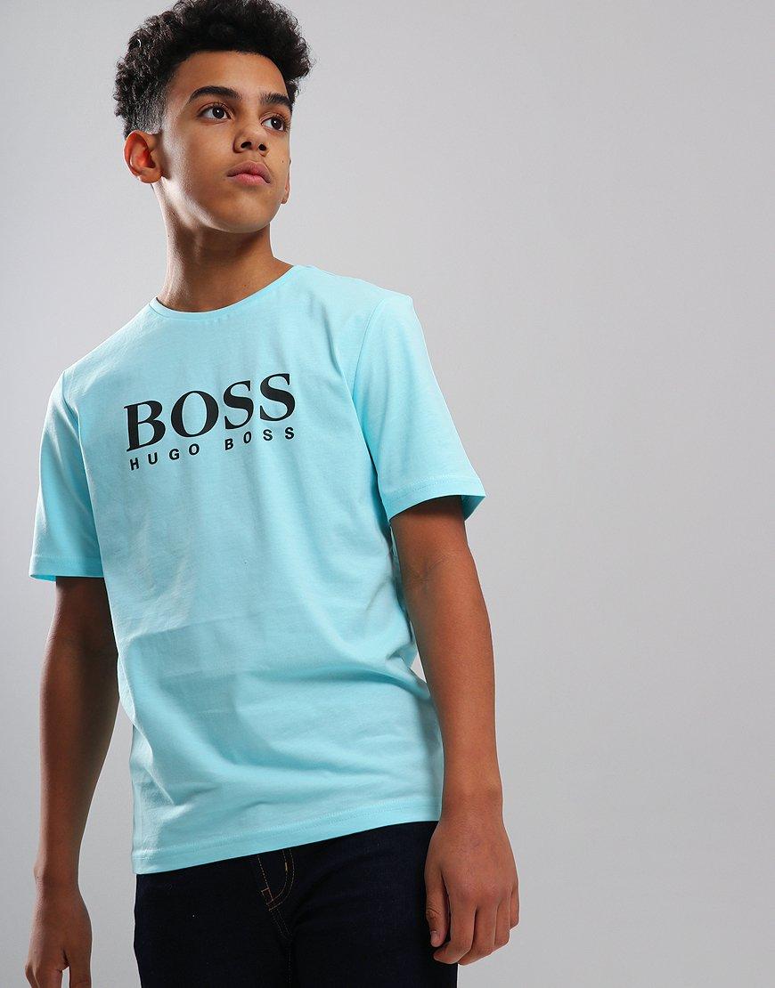 BOSS Kids Logo T-Shirt Turquoise