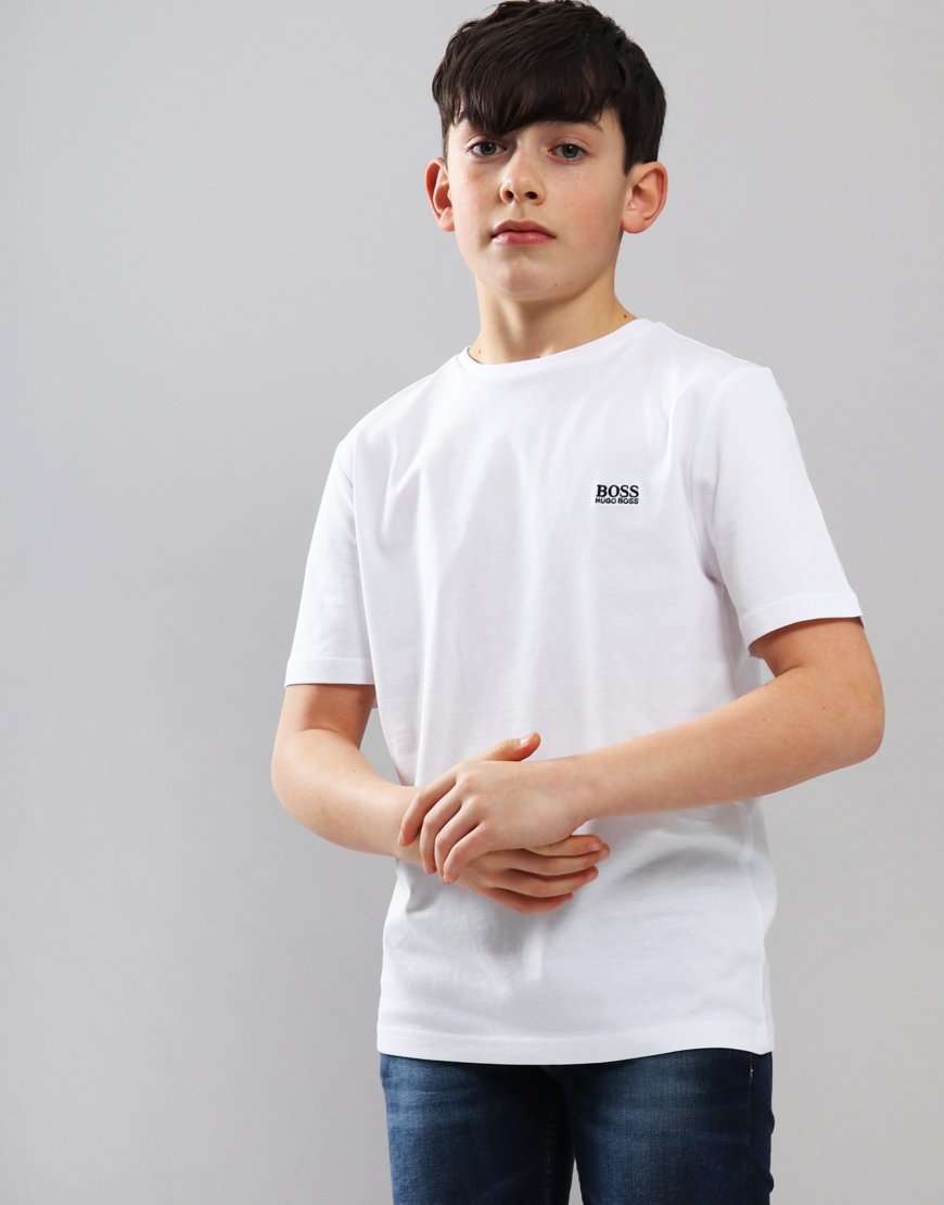 BOSS Kids Small Logo T-Shirt White