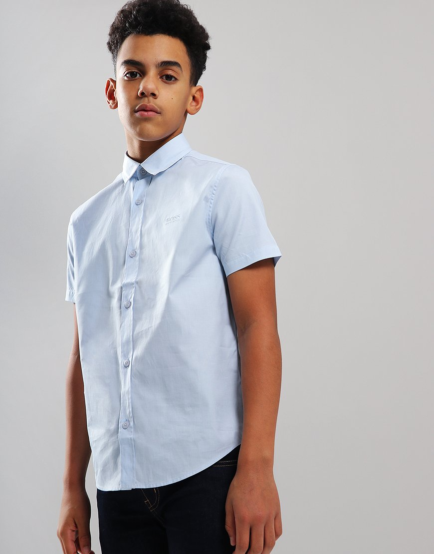 BOSS Kids Shirt Pale Blue
