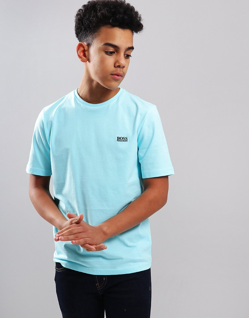 BOSS Kids Small Logo T-Shirt Turquoise