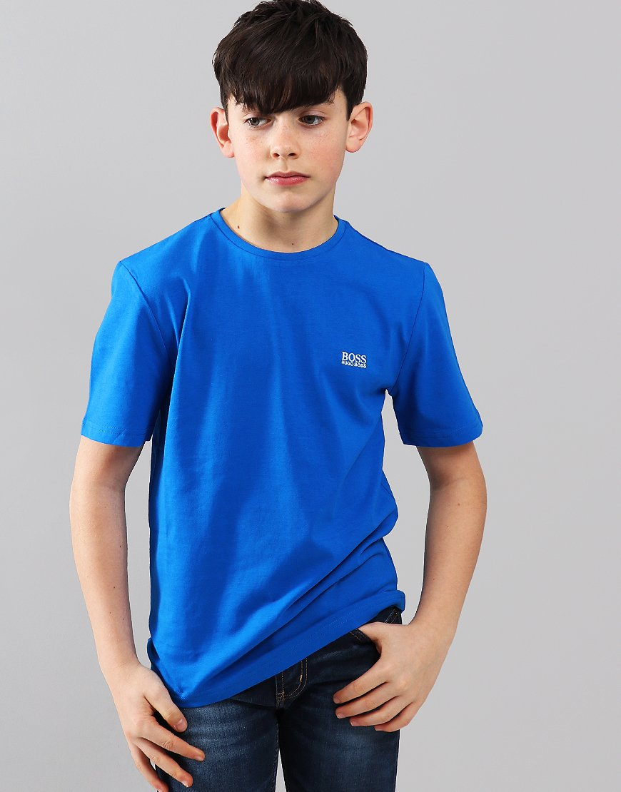 BOSS Kids Small Logo T-Shirt Blue