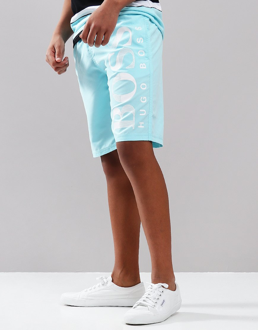 BOSS Kids Swim Shorts Turquoise