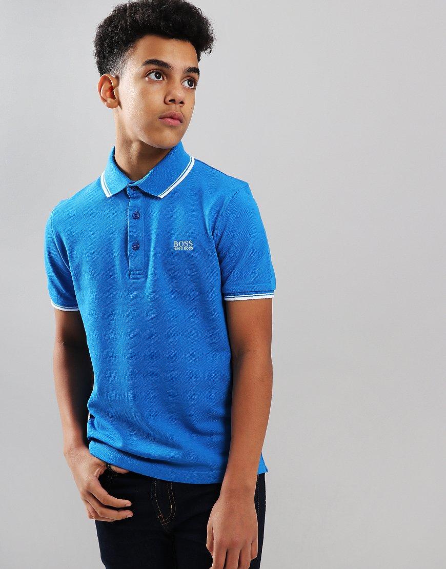 ddf4f1dc BOSS Kids Tipped Polo Shirt Blue