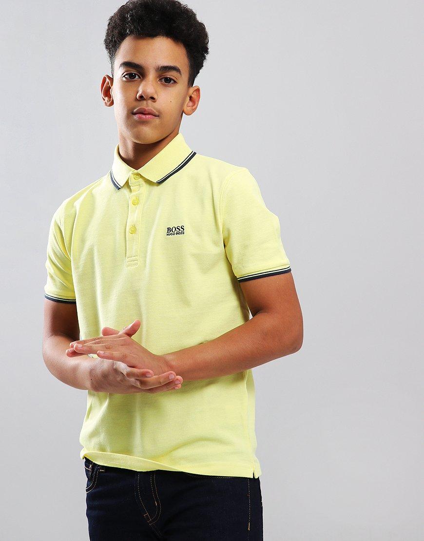 2daaa18a BOSS Kids Tipped Polo Shirt Straw Yellow