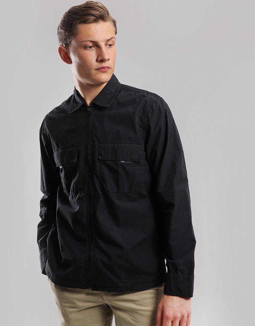 BOSS Lightweight Lovel-Zip Overshirt Black