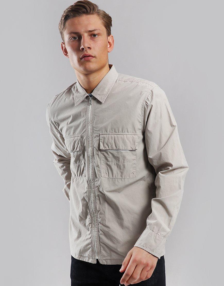 BOSS Lightweight Lovel-Zip Overshirt Light Beige