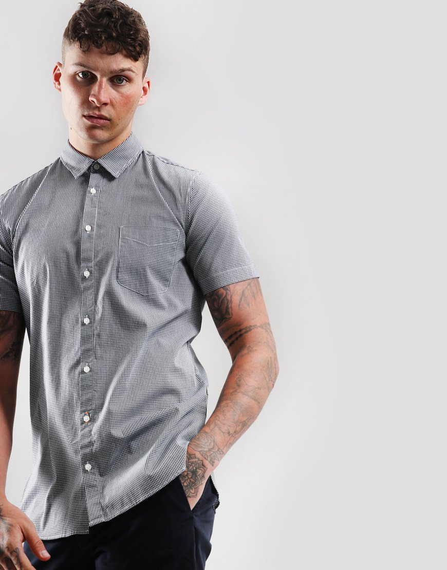 BOSS Magneton 1 Slim Fit Shirt Dark Blue