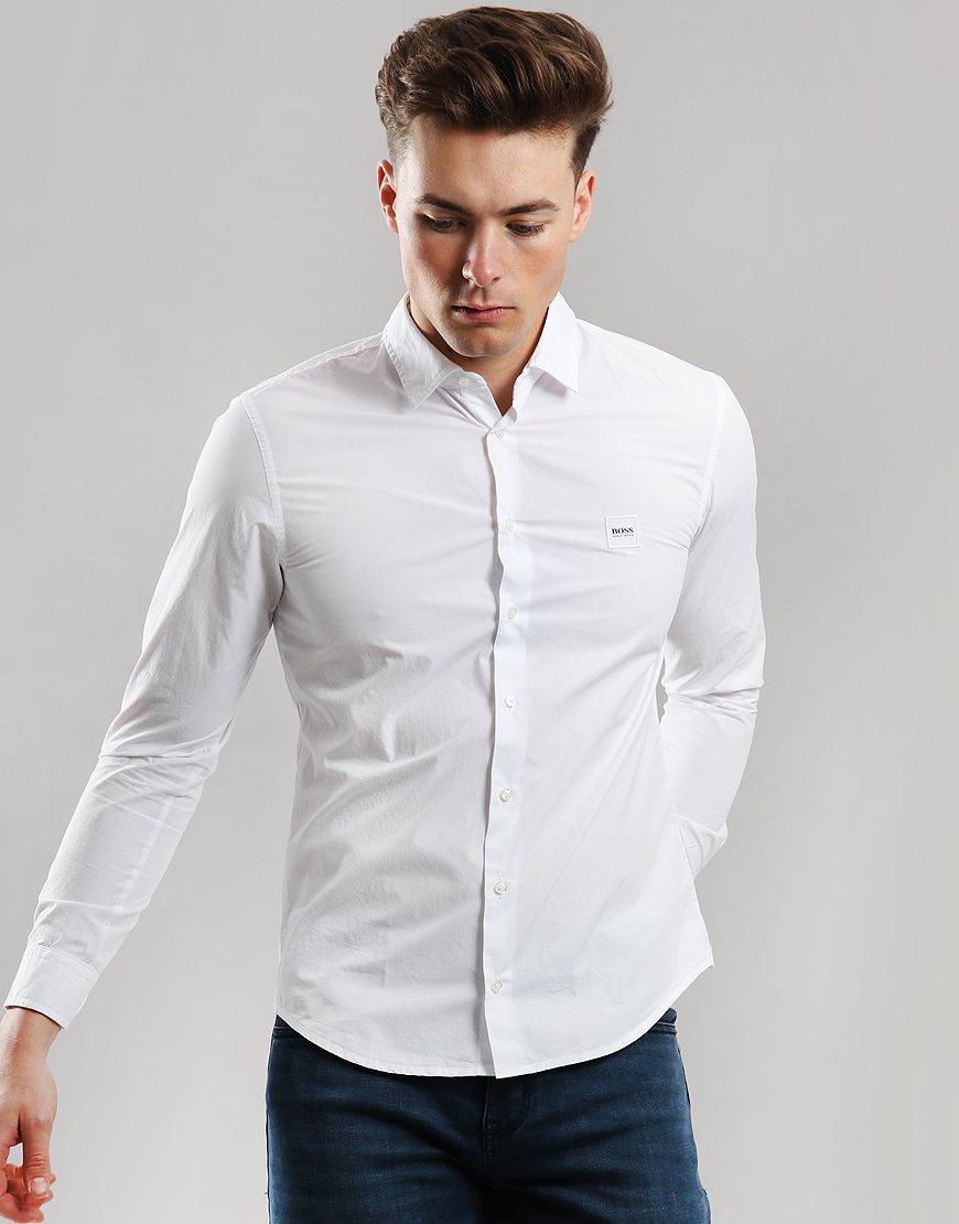 BOSS Mypop Slim Fit Shirt White