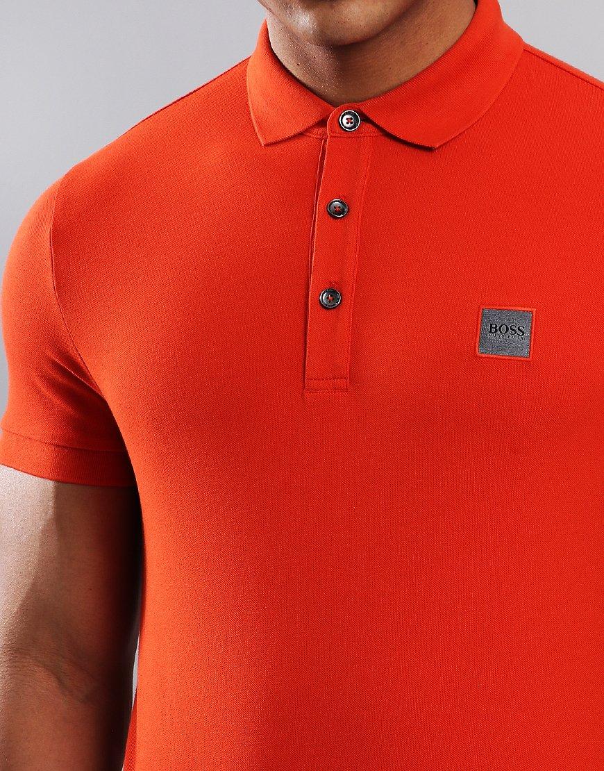 adb164541aee BOSS Passenger Slim Fit Stretch Polo Shirt Dark Orange - Terraces ...
