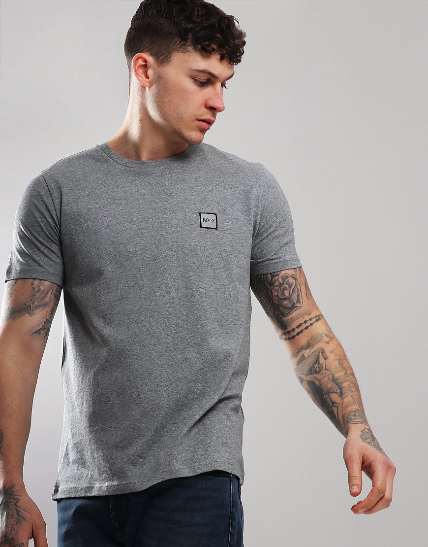 BOSS Tales Crew Neck T-Shirt Light/Pastel Grey