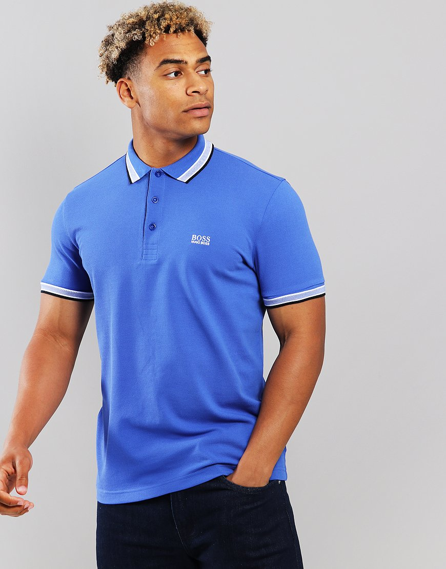 BOSS Paddy Regular Fit Polo Shirt Medium Blue