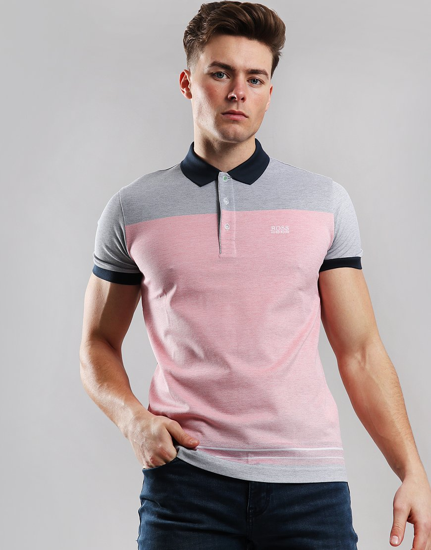 e36f1666 BOSS Paddy 4 Polo Shirt Open Red - Terraces Menswear