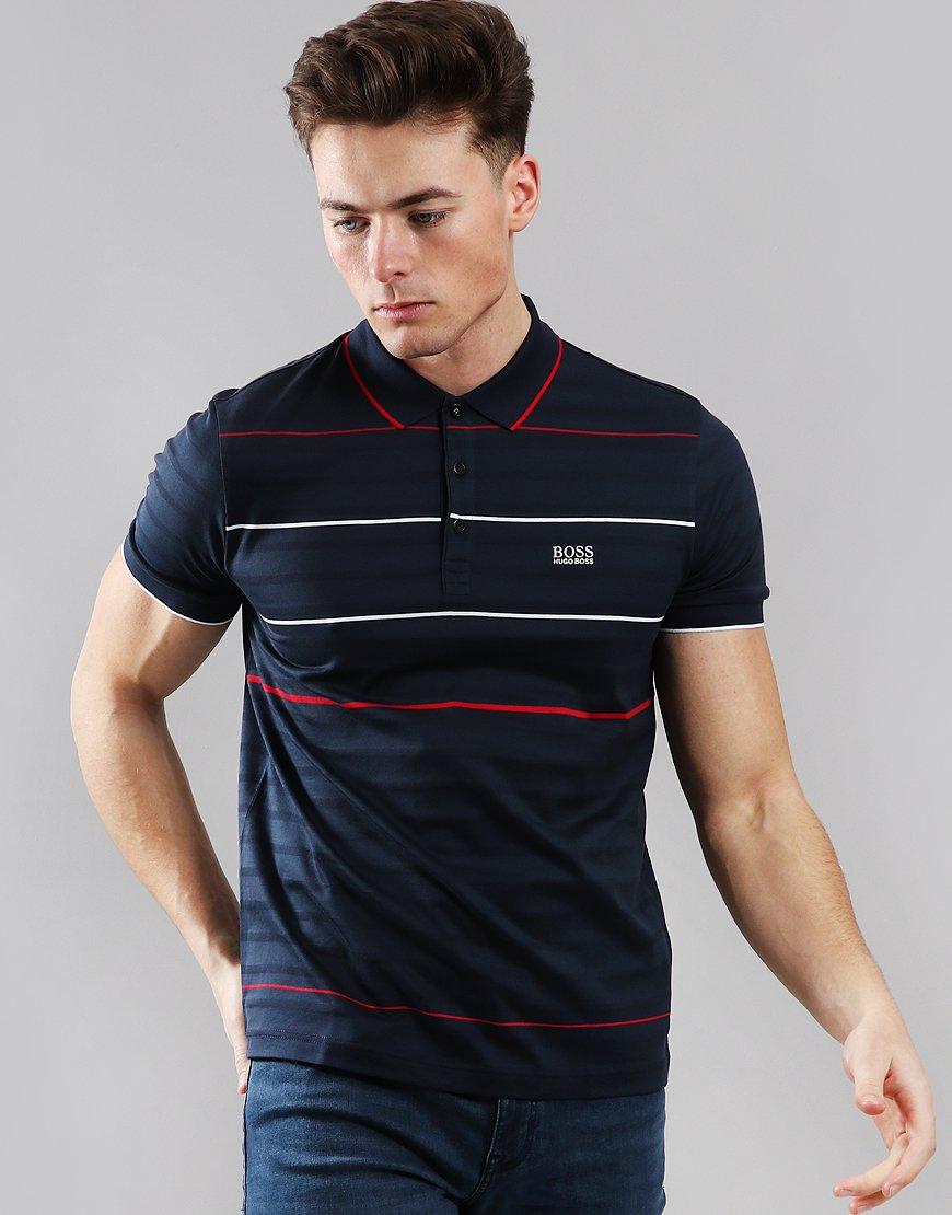 b7455d6c BOSS Paddy 5 Polo Shirt Navy - Terraces Menswear