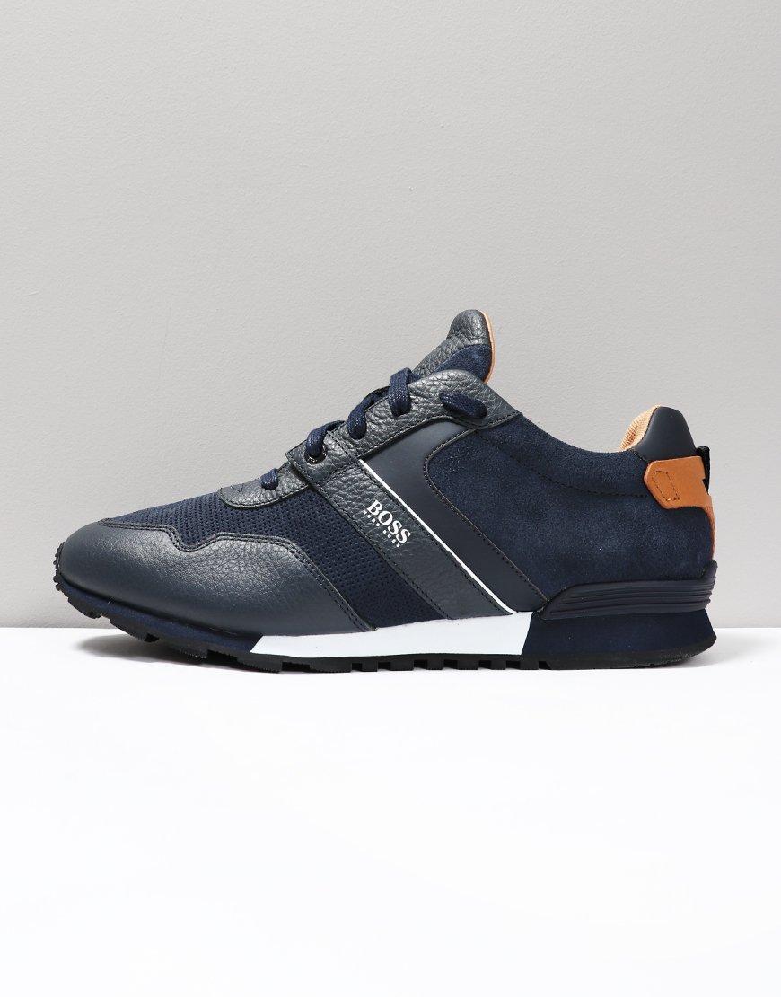 online store 62b21 773a2 BOSS Parkour Running Trainers Dark Blue