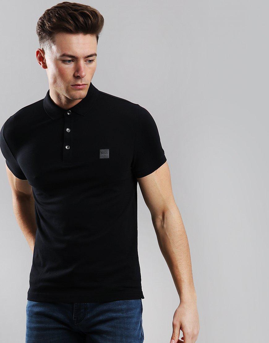 BOSS Passenger Slim Fit Stretch Polo Shirt Black