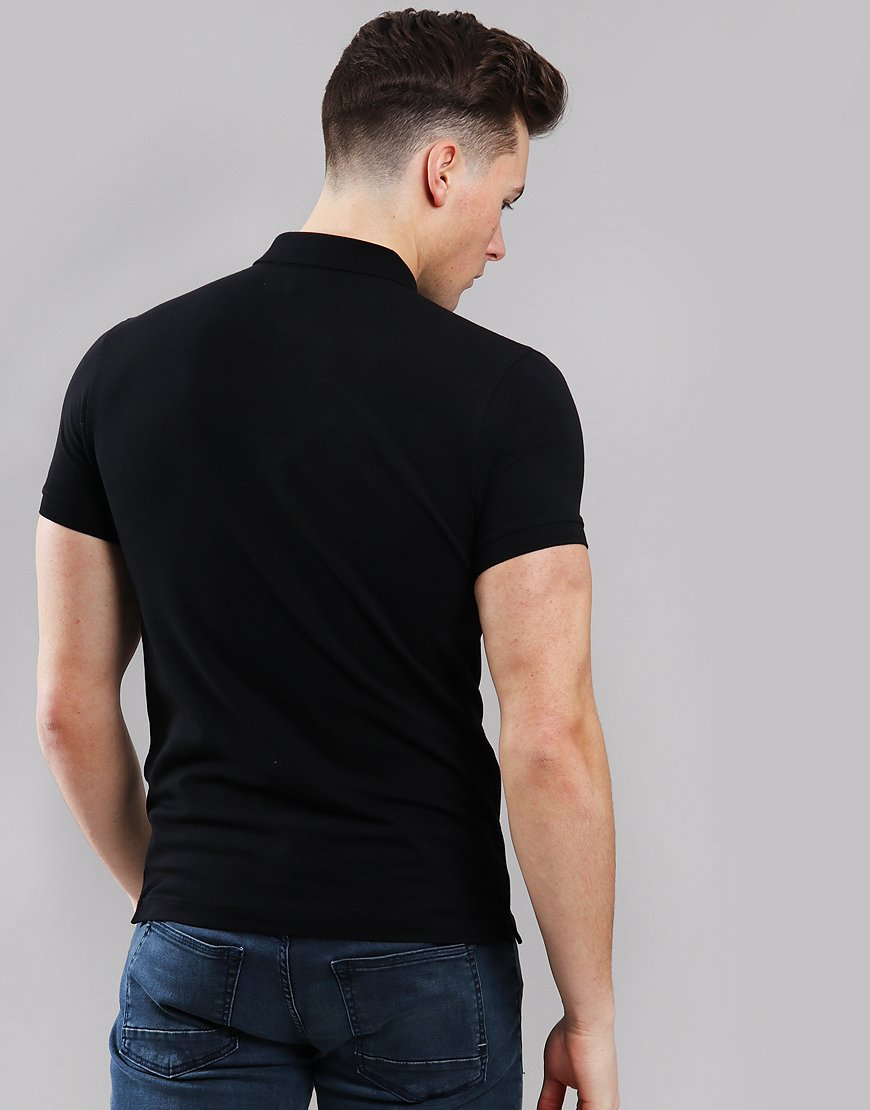 c32364470a BOSS Passenger Slim Fit Stretch Polo Shirt Black - Terraces Menswear