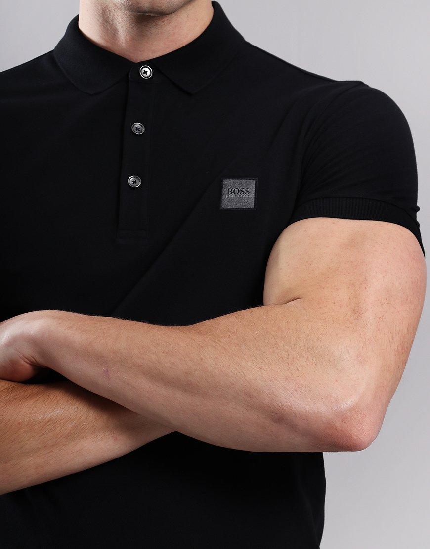 cf9c26c12849 BOSS Passenger Slim Fit Stretch Polo Shirt Black - Terraces Menswear