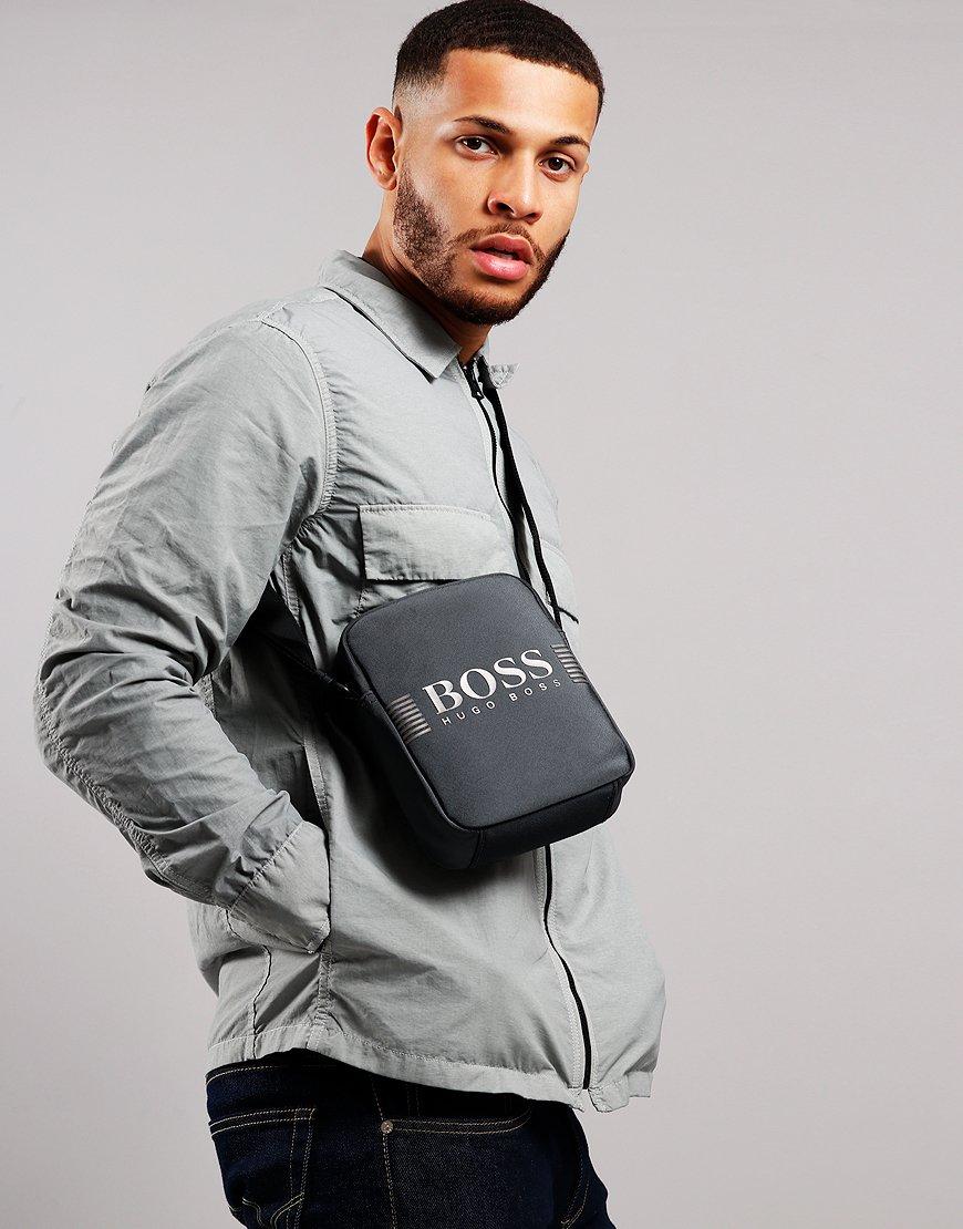 BOSS Pixel ML_NZ Side Bag Dark Grey