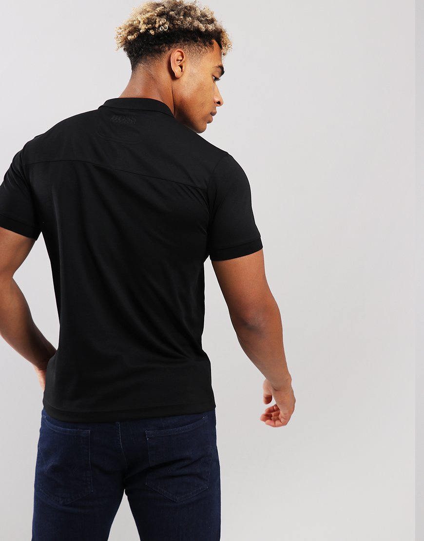 BOSS Water Repellent Slim Fit Polo Shirt Black
