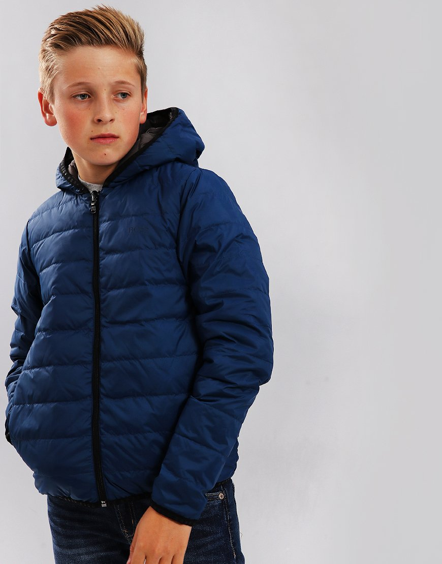 BOSS Kids J26361 Down Puffer Jacket Blue