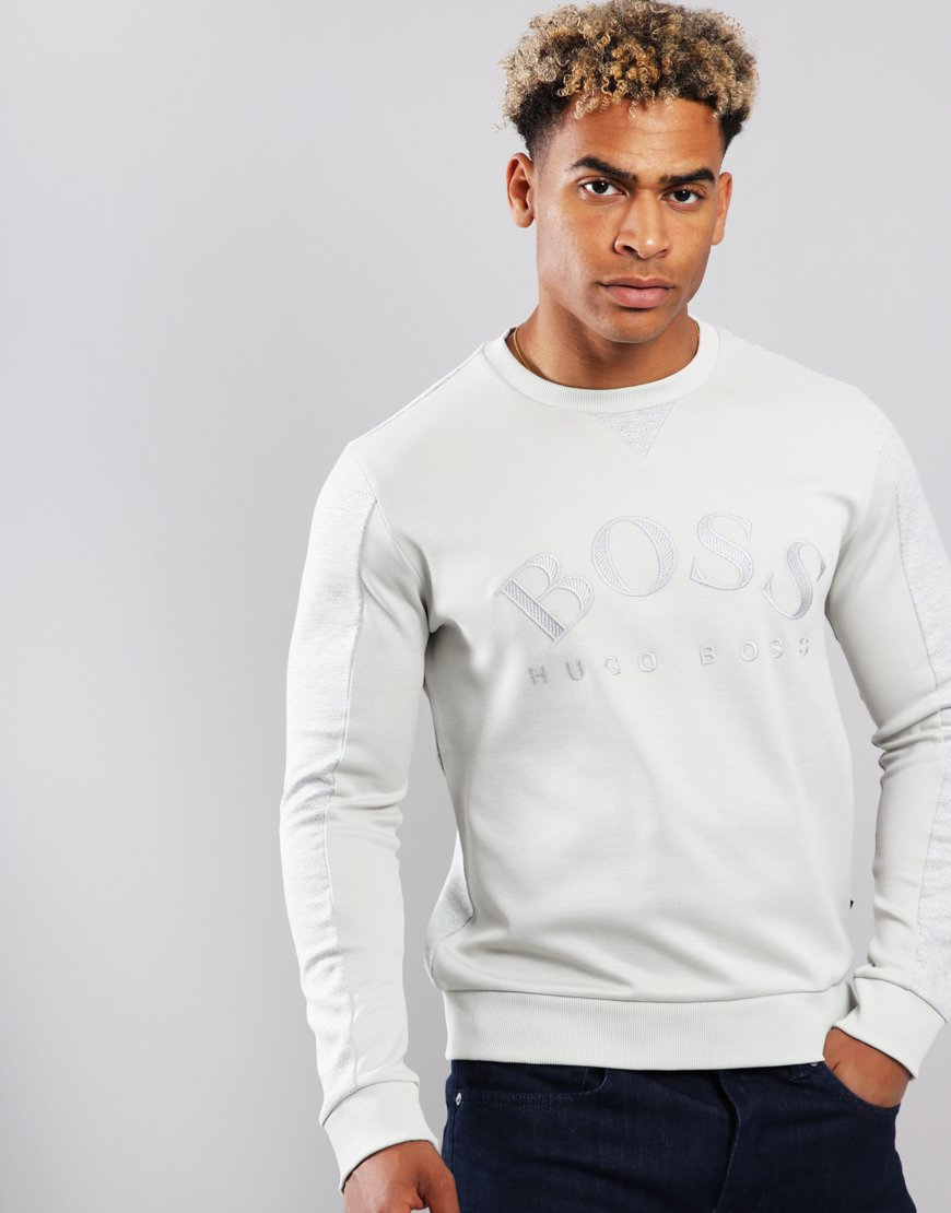 BOSS Salbo Slim-fit Sweat Light Beige