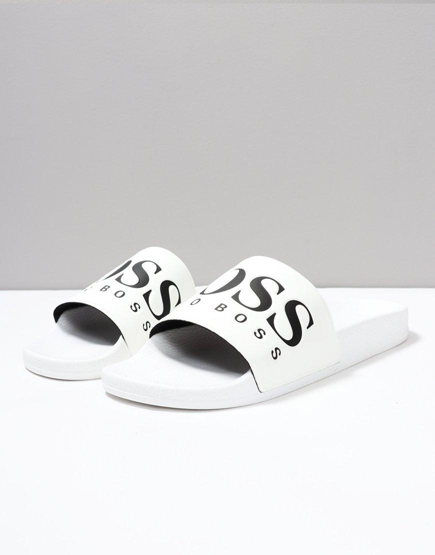 f588d701e3e BOSS Solar Slider White - Terraces Menswear