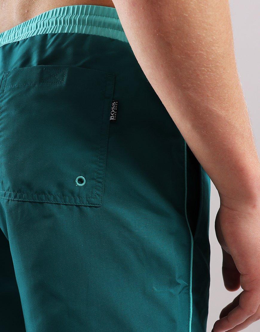 c4a8cdcea2c1c BOSS Starfish Swimshorts Dark Green - Terraces Menswear