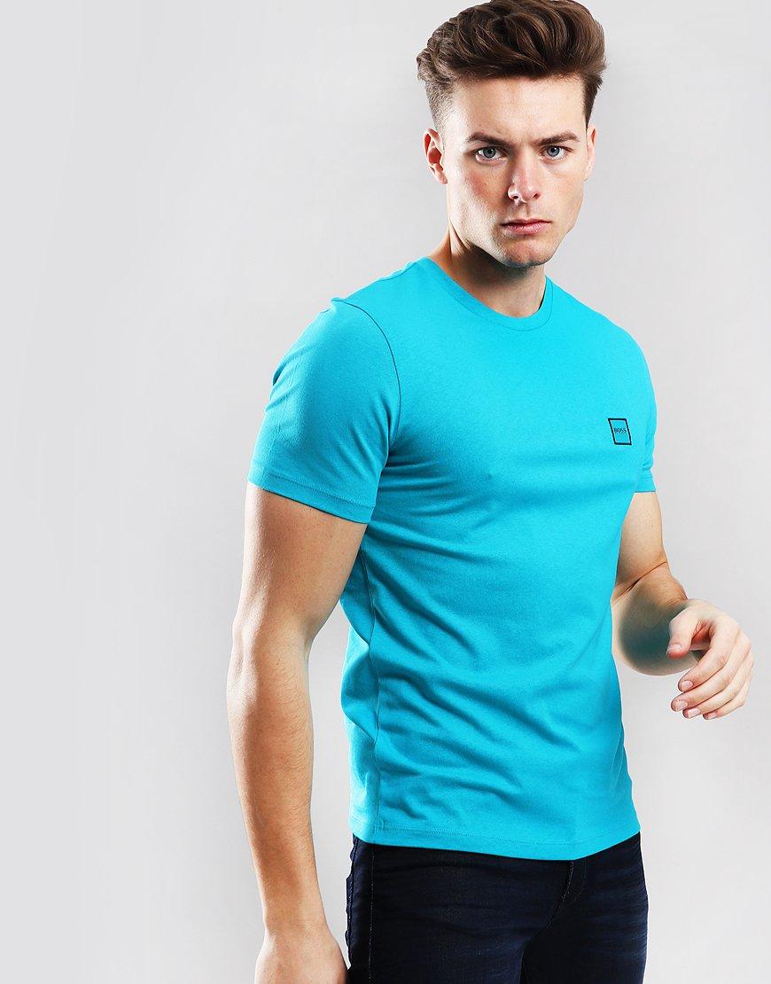 BOSS Tales Crew Neck T-Shirt Open Blue