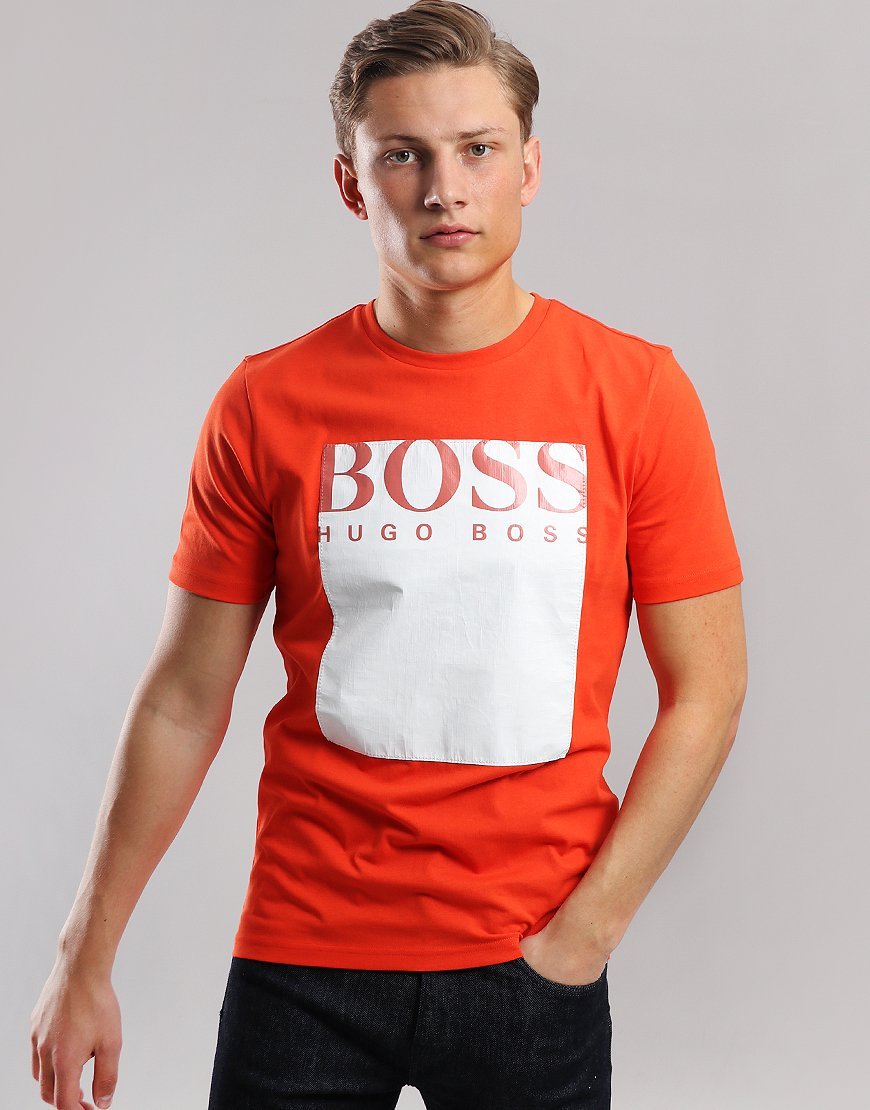 BOSS Tauch 2 Logo square T-Shirt Orange