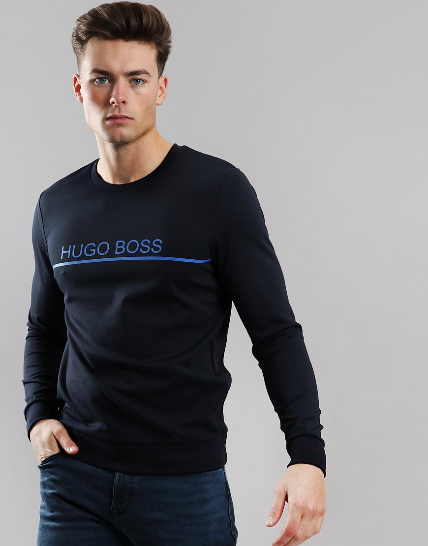 BOSS Track Crew Sweat Dark Blue